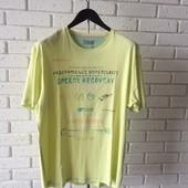 Мужская футболка желтая 3xl