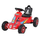 Детский педальный Карт M 1559-3 веломобиль, резиновые колеса, красный