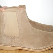 полностью кожаные стильные ботинки