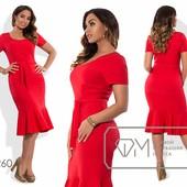 Х6260 Красивое платье 48-54р 4 цвета