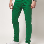 H & M Шикарные джинсы изумрудного цвета - подрастковые