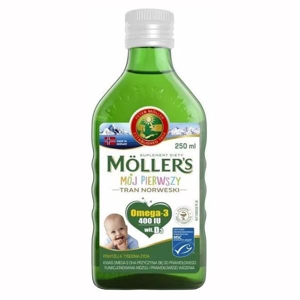 Mollers tran omega-3 мой первый рыбий жир (норвежский рыбий жир для детей от 1 месяца) без добавок 2 фото №1