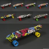 Скейт 822 / 779-822 Абстракция, Без Света, длина доски 55см, колёса PU - d 6см