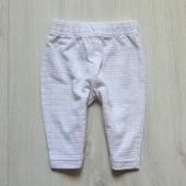 Белоснежные фактурные штаники для новорожденной. Pitter Patter. Размер 0-3 месяца