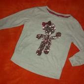 Стильный свитшот I love girlwear на 2-4 года в идеале