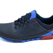 Мужские кроссовки с перфорацией Ecco Е7 синие