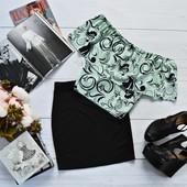 Костюм: мятный топ-трансформер+классическая юбка