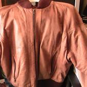 кожаная куртка 48р теплая