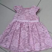 Платье для крохи 50-56 см