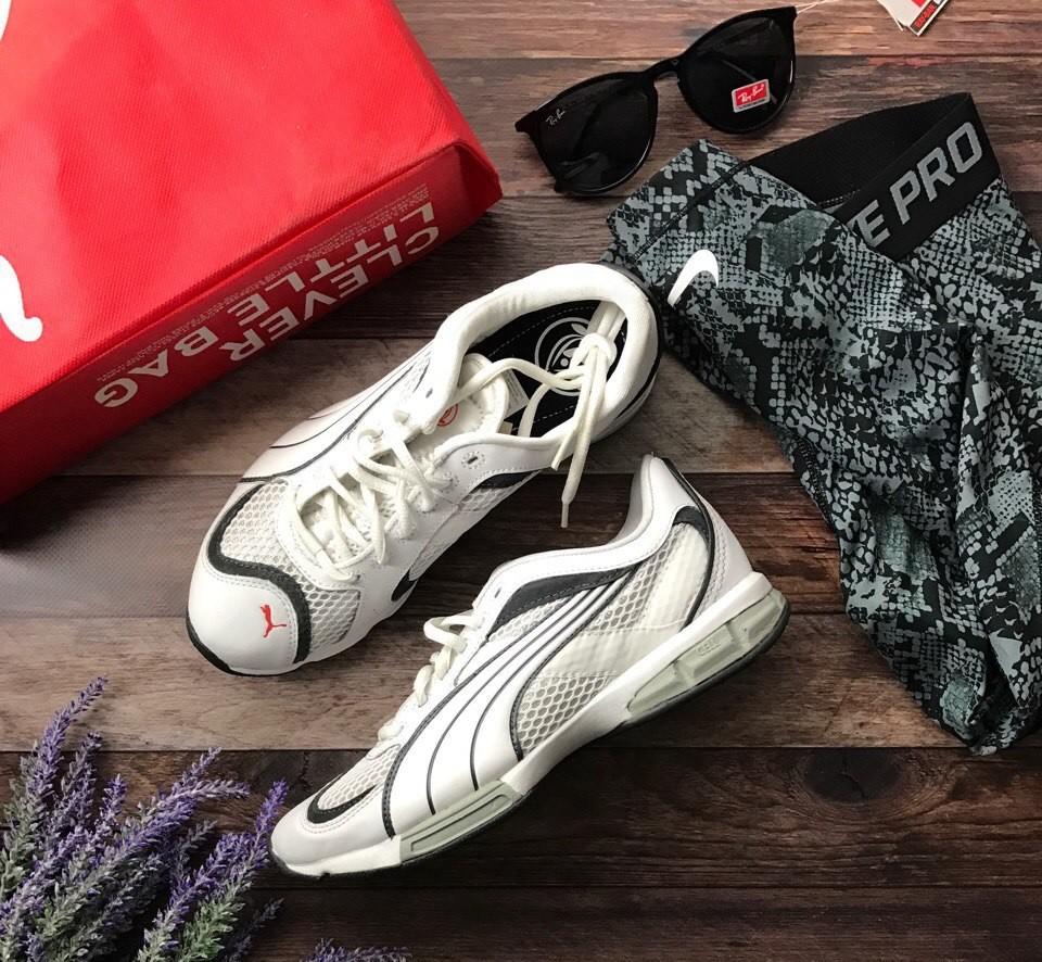 Фирменные кроссовки puma из дышащего текстиля с амортизацией  sh1418 фото №1