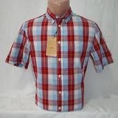 Мужская рубашка в клетку с коротким рукавом Piazza Italia. Разные цвета.
