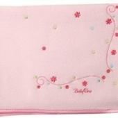Одеяло флисовое с вышитыми цветами