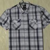 Стильная рубашка в клетку Reacocks, р.XL. 100% котон
