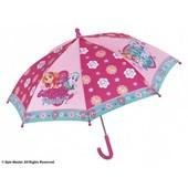 Зонтик Щенячий патруль Perletti малиновый, детский зонт для девочки