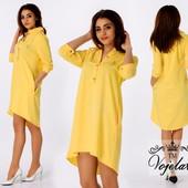 платье-рубашка свободного кроя норма и батал