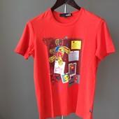 Мужская футболка L коралловая