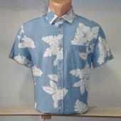 Мужская рубашка с коротким рукавом Jack&Jones. Разные цвета.