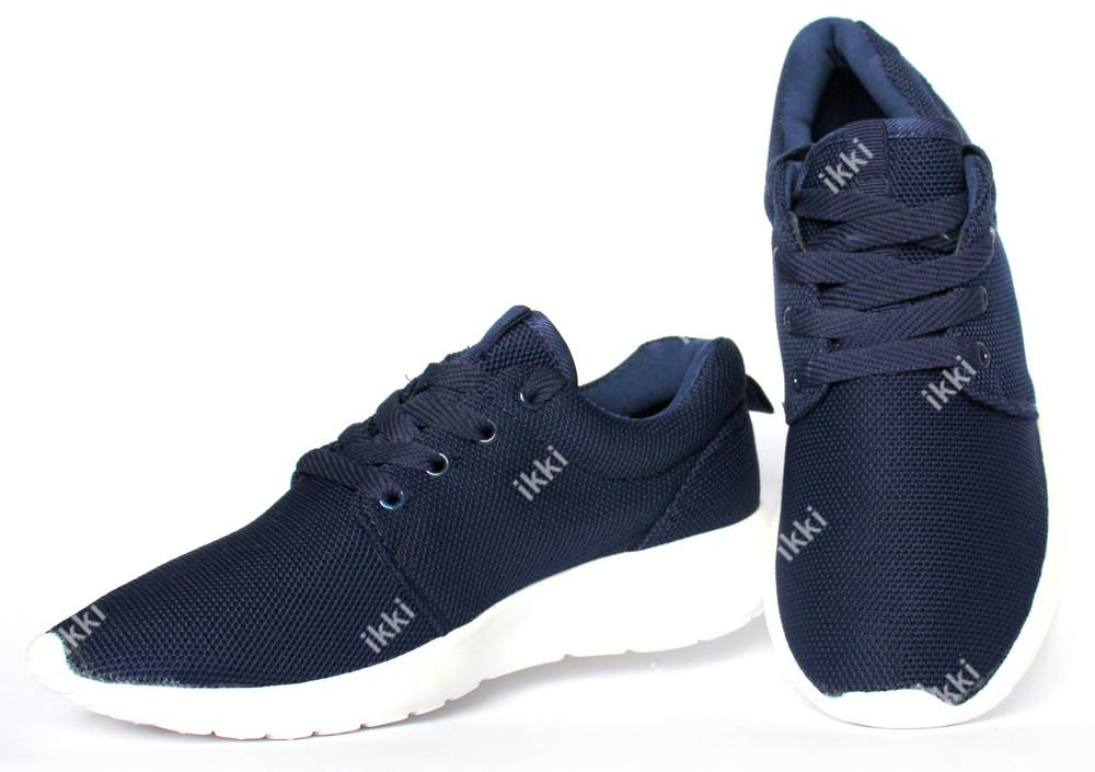 Летние кроссовки легкие синего цвета для мужчин (АД-22C) фото №1