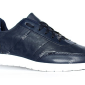 Мужские кроссовки синего цвета эко-кожа (4-196)