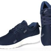 Летние кроссовки легкие синего цвета для мужчин (АД 22C)