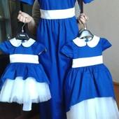 Платья нарядные, выпускные, бальные , комплекты мама + дочка 74-164р