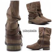 Стильные ботинки/полусапожки на низком ходу Стиль: casual