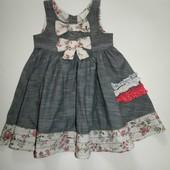 Легкое платье Next 12-18 м(80-86 см)