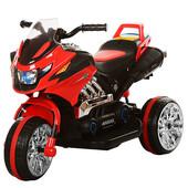 Детский трицикл bambi красный (BI318c-3) с аккумуляторной батареей 6v/7ah