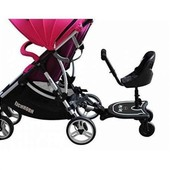подножка с сидением для второго ребенка.Кресло для погодок, крепится к любой коляске!