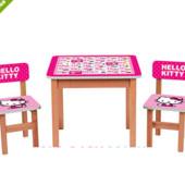 "Деревянный столик с двумя стульчиками ""Hello Kitty"" F197"