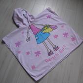 Полотенце-пончо для девочки 68х121