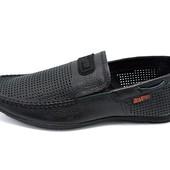 Мужские кожаные мокасины Braxton NR 350 черные