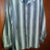 Рубашка серая в полоску