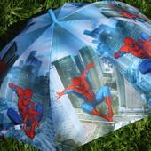 Италия. Спица карбон Красивенный зонт зонтик трость для мальчика Человек Паук