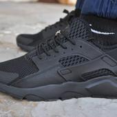 Мужские кроссовки Nike air Huarache black кроссовки найк эир аир хуарачи черные