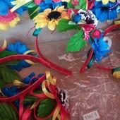 Украинские венки -обручи с цветами без лент