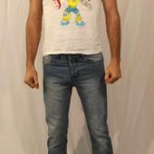 1199 Тертые голубые джинсы Denim&Co