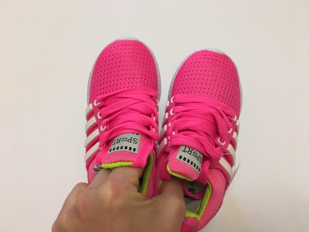 Кроссовки летние сеточка розовые для девочки фото №3