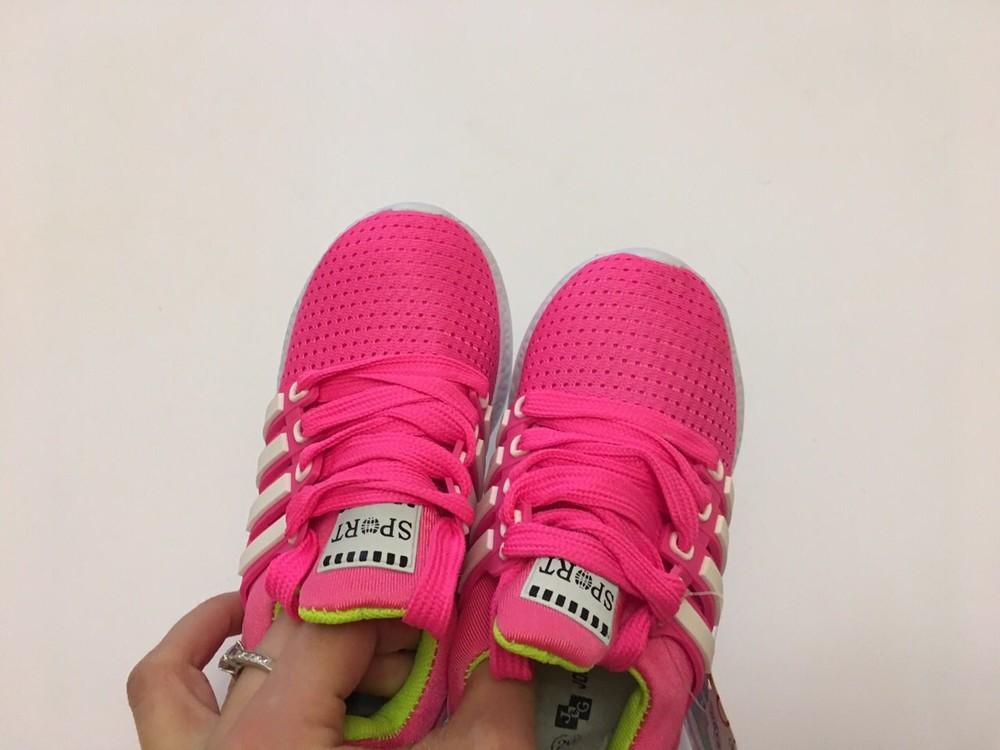 Кроссовки летние сеточка розовые для девочки фото №8