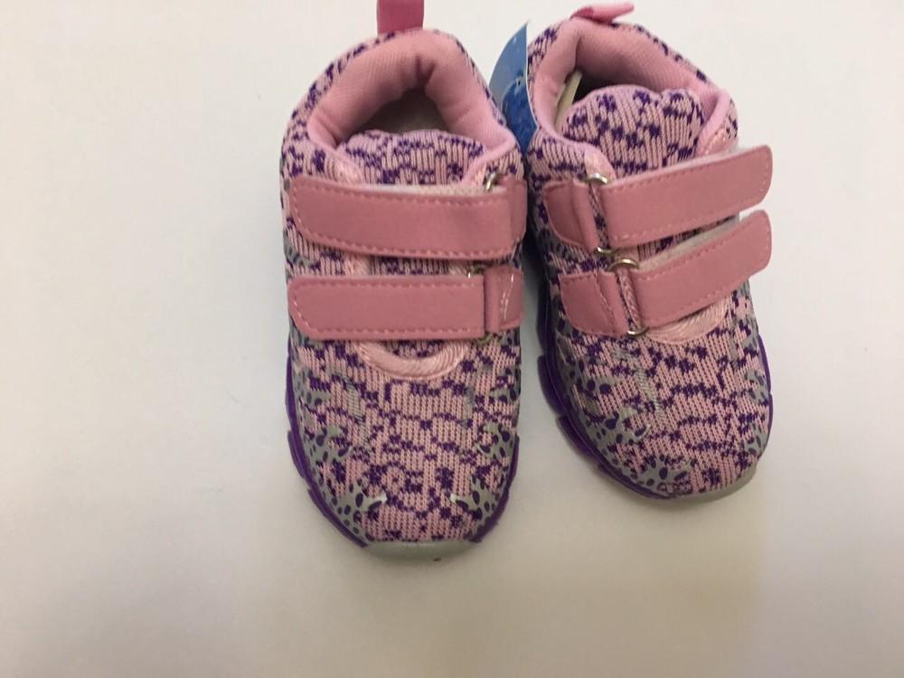Кроссовки фиолетовые микрофибра для девочки фото №3