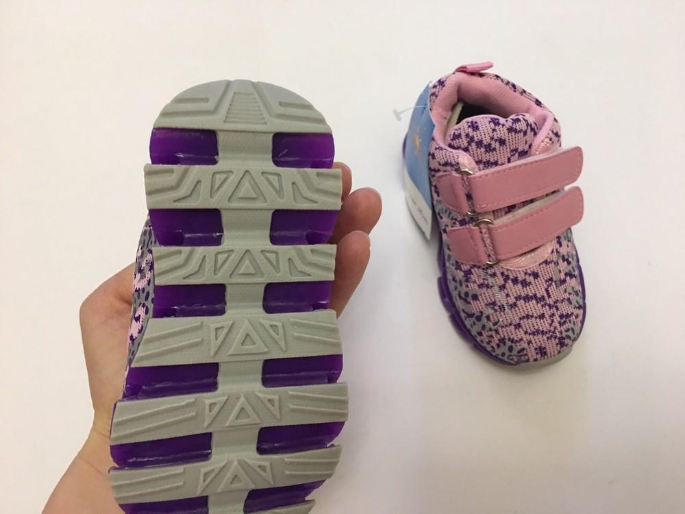 Кроссовки фиолетовые микрофибра для девочки фото №6
