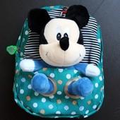Детский рюкзак со съемной игрушкой микки маус