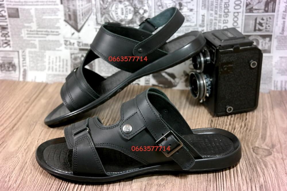 Натуральная кожа Отличные мужские сандалии-шлепки, трансформеры. Качественная обувь фото №1