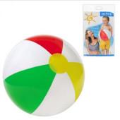 Мяч надувной пляжный Intex 59010, 4-х цветный, 3+ лет, 41 см