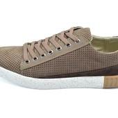 Мужские кроссовки Visazh Sport Line коричневые