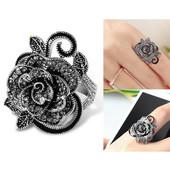 Шикарное винтажное кольцо в форме розы