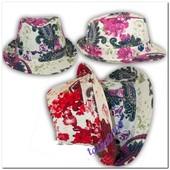 Хит 2017! Шляпа шляпка панамка челентанка федора для девочек, девушек Ог 54-55 см.