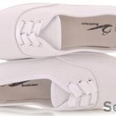 Мокасины женские текстильные белые шнурок