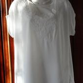 Белая нарядная блуза с вышивкой Warehouse, р.54-56
