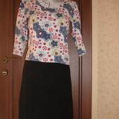 Классическая трикотажная юбка карандаш на 46 размер